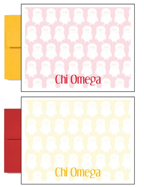 Chi Omega Logo Sorority Postcards