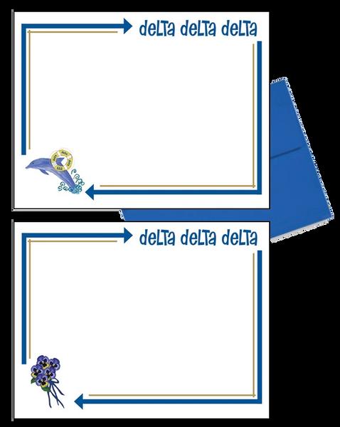 Delta Delta Delta Arrow Postcards