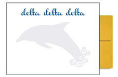 Delta Delta Delta Background Postcards