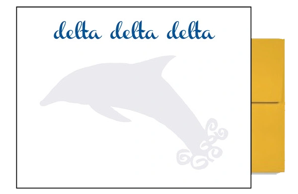Delta Delta Delta Background Postcards
