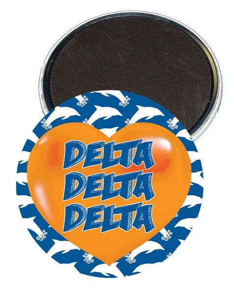 Delta Delta Delta Heart Magnet