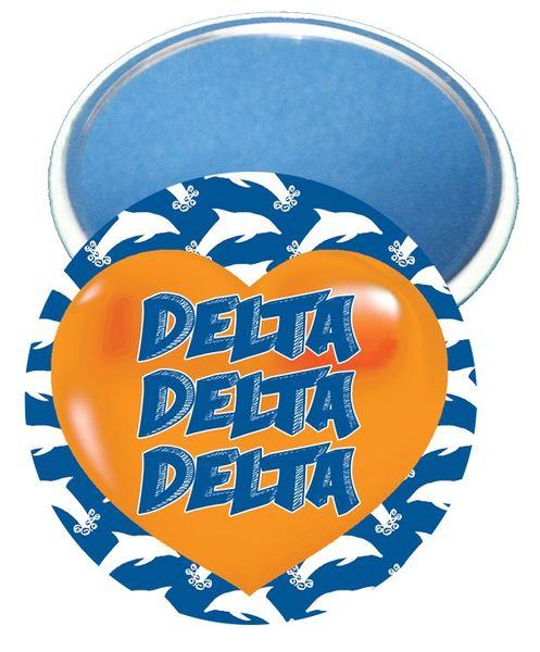 Delta Delta Delta Heart Mirror