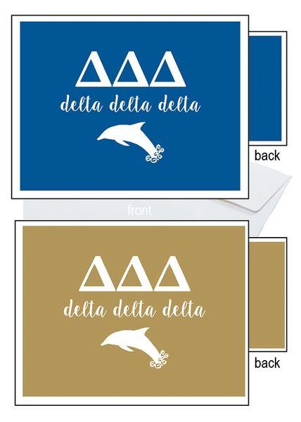 Delta Delta Delta Letter Notecards