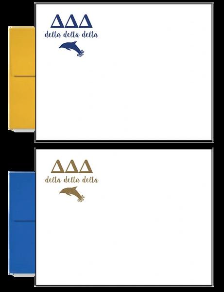 Delta Delta Delta Letter Postcards
