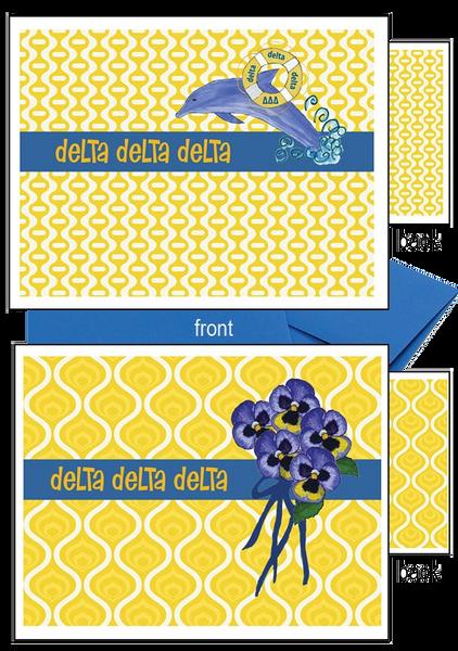 Delta Delta Delta Logo Notecards