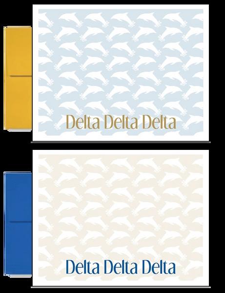 Delta Delta Delta Sorority Postcards