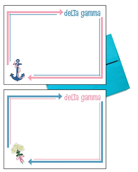 Delta Gamma Arrow Postcards