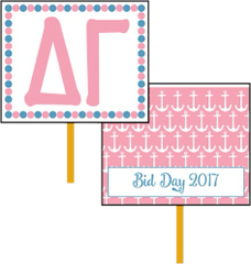 Delta Gamma Bid Day Hand Fan