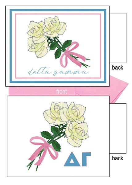Delta Gamma Flower Notecards