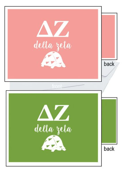 Delta Zeta Letter Notecards