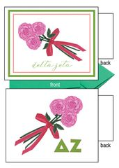 Delta Zeta Flower Notecards