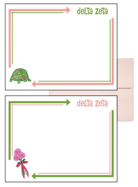 Delta Zeta Arrow Postcards