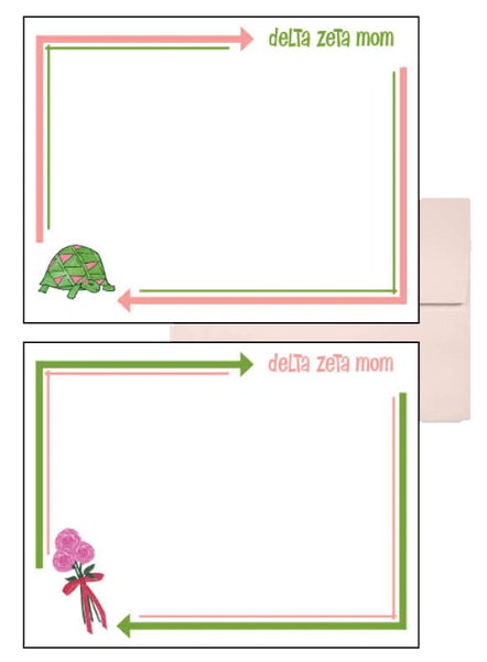 Delta Zeta Mom Arrow Postcards