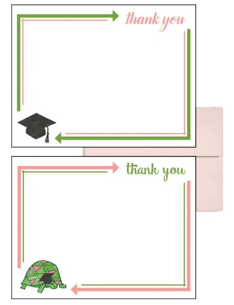 Delta Zeta Graduation Postcards