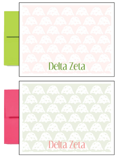 Delta Zeta Sorority Postcards