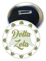Delta Zeta Sorority Button