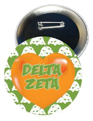 Delta Zeta Heart Button