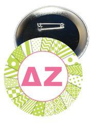 Delta Zeta Letters Button