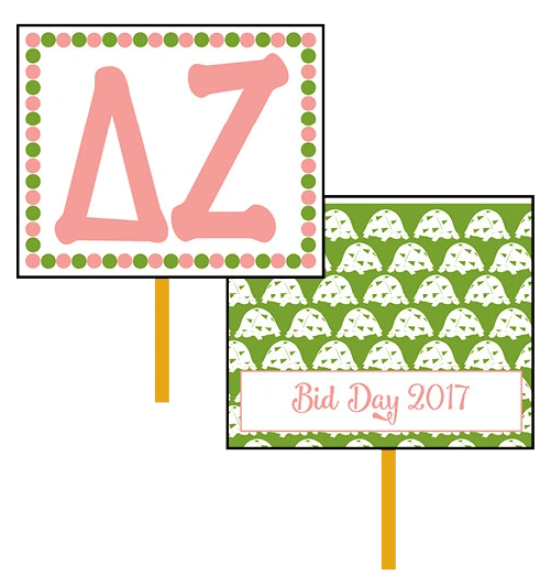 Delta Zeta Bid Day Hand Fan