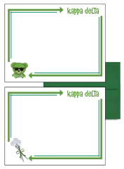 Kappa Delta Arrow Postcards