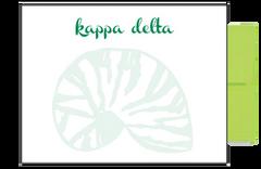 Kappa Delta Background Postcards