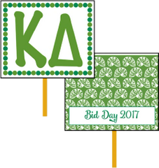 Kappa Delta Bid Day Hand Fan