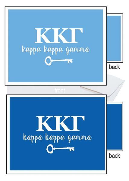 Kappa Kappa Gamma Letter Notecards