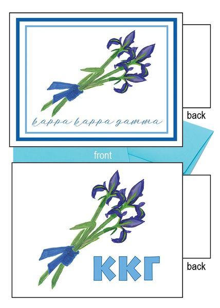 Kappa Kappa Gamma Flower Notecards