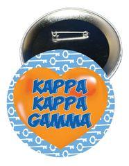 Kappa Kappa Gamma Heart Button
