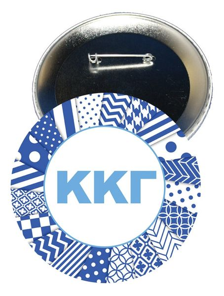 Kappa Kappa Gamma Letters Button