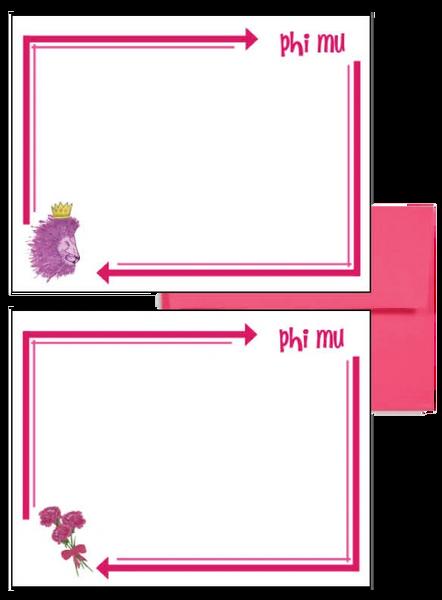 Phi Mu Arrow Postcards