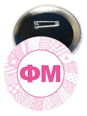 Phi Mu Letters Button