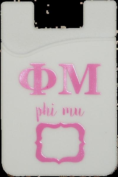 Phi Mu Cell Phone Pocket