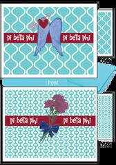 Pi Beta Phi Logo Notecards