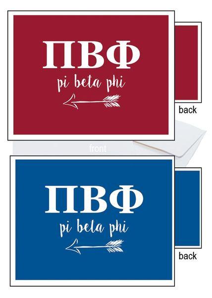 Pi Beta Phi Letter Notecards