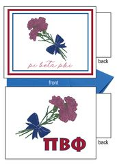 Pi Beta Phi Flower Notecards