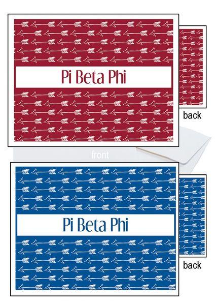 Pi Beta Phi Sorority Notecards