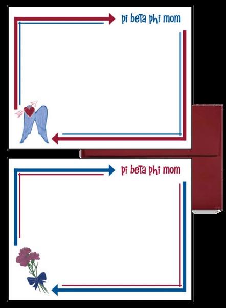 Pi Beta Phi Mom Arrow Postcards