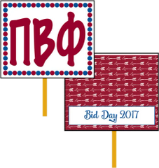 Pi Beta Phi Bid Day Hand Fan