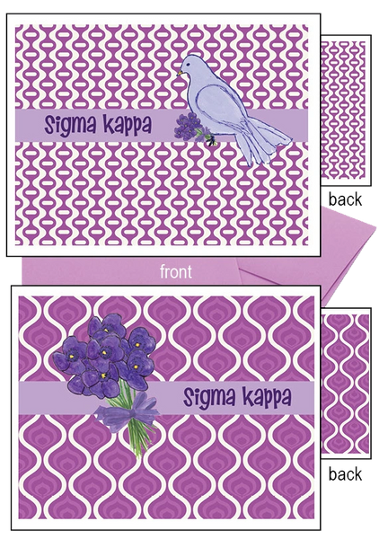 Sigma Kappa Logo Notecards