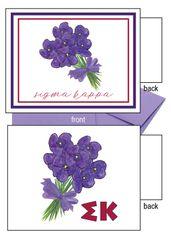 Sigma Kappa Flower Notecards