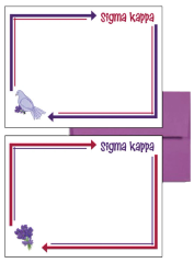 Sigma Kappa Arrow Postcards