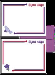 Sigma Kappa Arrow Postcards