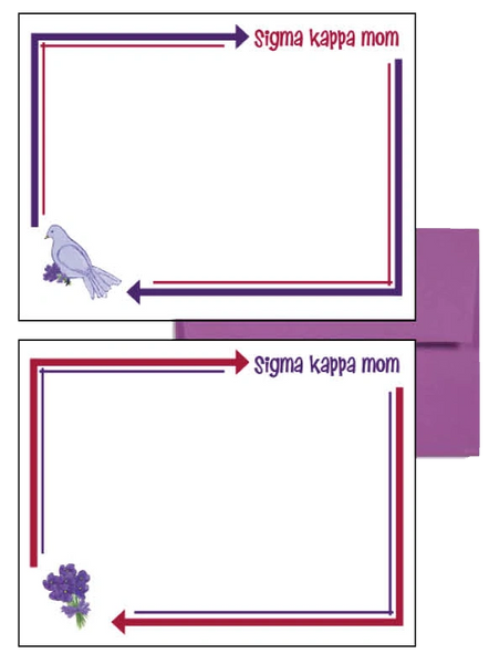 Sigma Kappa Mom Arrow Postcards