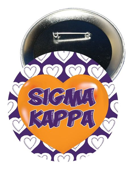 Sigma Kappa Heart Button
