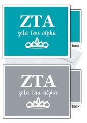 Zeta Tau Alpha Letter Notecards