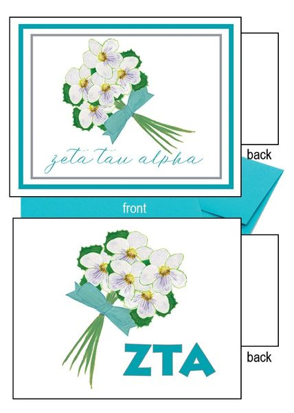 Zeta Tau Alpha Flower Notecards