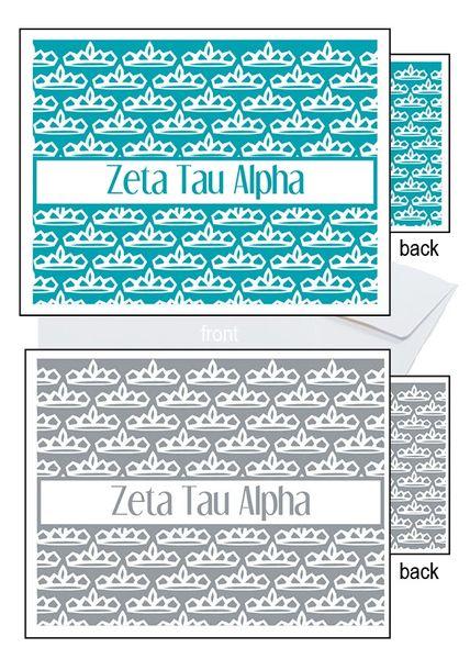 Zeta Tau Alpha Sorority Notecards