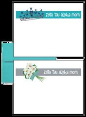Zeta Tau Alpha Mom Logo Postcards