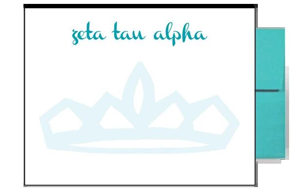 Zeta Tau Alpha Background Postcards